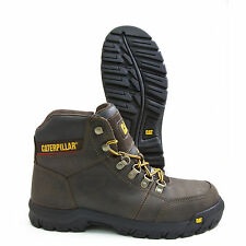 Caterpillar Outline Brown Leather Steel Toe Slip Resistant Work Boot P90803