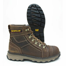 Caterpillar Granger Dark Brown Leather Steel Toe Slip Resistant Work Boot P90707