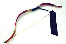 Cool Handmade Chinese Archery Traditional Red Pigskin Longbow Kids Bow 10-25lb