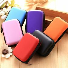 Carry Pouch Travel Headphone Bag Cable Accessories Storage Box Portable Case