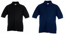 FRUIT OF THE LOOM PREMIUM MENS EGYPTIAN COTTON POLO SHIRT WORKWEAR CASUAL WORK