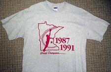 MINNESOTA TWINS 87-91 WORLD SERIES METRODOME COMMEMORATIVE TSHIRT