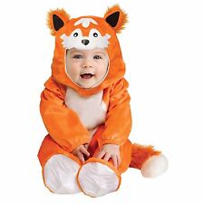 Baby Kids Cute Orange Fox Halloween Animal Costume Outfit Cosplay Party Jumpsuit