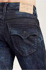 Nwt! TRUE RELIGION MEN'S JEANS SLIM FLAP PHANTOM GREY BIG T, SZ 29,32,33, AUTENT