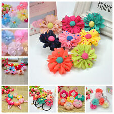 3pcs/lot Flowers Hair Accessories Kids Girls Baby Hair clips Ponytail Holder