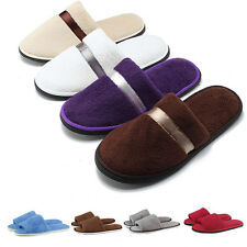 Women Men Home House Indoor Slippers Warm Cotton Velvet Shoes Sandals Anti-Slip