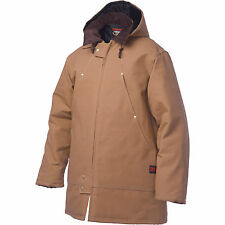 Tough Duck Men's Hydro parka Down Filled Very Warm winter jacket brown