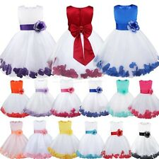 Baby Kids Flower Girl Dress Wedding Formal Pageant Prom Birthday Party Dress New