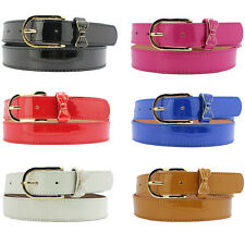 Women Candy Color PU Leather Skinny Belt Pin Buckle Bowknot Decor Belts NY077