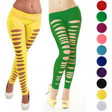 Fashion Women Skinny Jeggings Stretchy Sexy Slim Hole Ripped Legging Tight Pants
