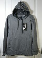 NWT MENS ADIDAS GRAY ULTIMATE PULLOVER FLEECE HOODIE JACKET COAT SZ M, 2XL
