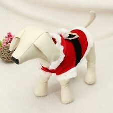 Pet Puppy Dog Christmas Santa Claus Clothes Hoodie Outfit Outwear Coat