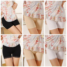 Women Ladies Fashion Lace Cotton Stretchy Safety Underwear Shorts Short Pants