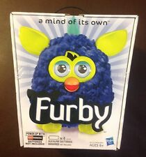 FURBY Royal Blue w/ Yellow Ears, Eyes and Feet.  2012 Brand New in box!