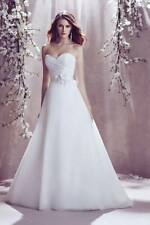 White/Ivory Organza Wedding Dress Bridal Gown Custom Size 6 8 10 12 14 16 18 20