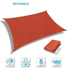 Sun Shade Sail UV Block Outdoor Canopy Patio Lawn Pool Deck Square Rectangle RED