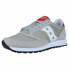 SAUCONY JAZZ ORIGINAL RETRO RUNNING SNEAKERS GREY WHITE RED S2044-323