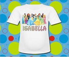 Personalized Disney Princesses T Shirt All the Disney Princesses All sizes