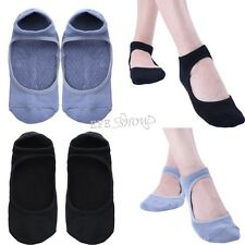 Women Girls Non-Slip Sock Ankle Gripper Slippers Sport Ballet Pilates Yoga Socks