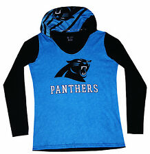 Nfl Womens Apparel - Carolina Panthers Ladies Poly - Hooded Game-Day Team Shirt