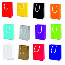 LUXURY GLOSS PARTY BAGS PAPER BOUTIQUE BAG GIFT BAGS WITH ROPE HANDLES 15x22x8CM