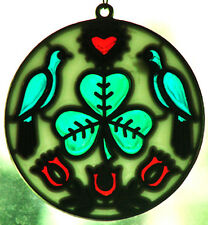"Hex Sign Sun Catcher Choice of Design Zook's Design 3-1/2""  Very Nice No Tax!"