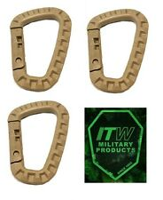 3 x ITW TAC LINK TACTICAL ABS TACLINK CARABINER MOLLE GhillieTEX MADE IN USA