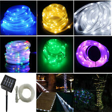 Solar Powered PVC LED String Lights 5M 50 Holiday Christmas Party Outdoor Lights