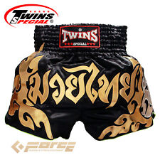 TWINS Special Pro Muay Thai Kick Boxing Shorts Pants Black/Gold TBS-49