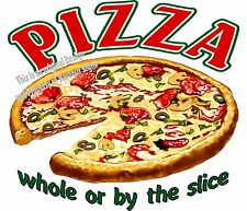 Pizza DECAL (Choose Your Size) Food Truck Sign Restaurant Concession Vinyl