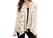 NWT Lucky Brand Embroidered Cardigan Wrap Jacket L, XL
