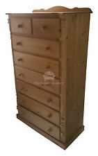 HANDMADE SOLID PINE BUCKINGHAM CHEST OF DRAWERS - FULLY ASSEMBLED- NO FLATPACK