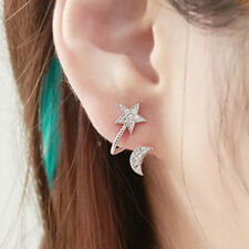 Women Chic Elegant Crystal Rhinestone Earrings Charm Moon Star Ear Stud Earring