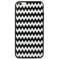 Black and White Chevron Hard Back Case for Apple iPhone 5C 6 6S Plus + Cover