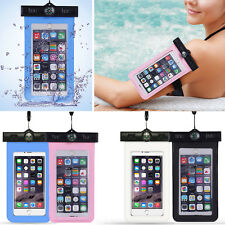2 Waterproof Pouch Bag Phone Case Cover Armband Compass Lanyard For Smartphone
