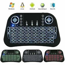 New i10 Mini Wireless Backlight Keyboard Touchpad Air Mouse For PC Pad Android