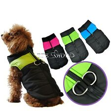 Puppy Dog Pet Winter Warm Jacket Coat Outfit Shower/Windproof Clothes SIZE XS-XL