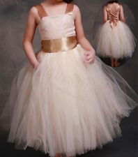 Flower Girl Wedding Formal Lace Junior Bridesmaid Party Pageant Princess Dress