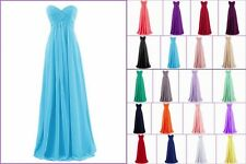 In Stock Bridesmaid Evening Prom Dresses Ball Wedding Party Gowns US Size 6-18