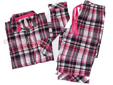 VICTORIA'S SECRET SOFT THE DREAMER FLANNEL PAJAMA SET PLAIDS CHECKS NWT 45T7