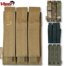 VIPER TACTICAL MP5 MAG POUCH TRIPLE MOLLE AMMO WEBBING AIRSOFT ARMY MAGAZINE