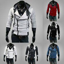 Fashion Men Slim Fit Hoodies Zip Hooded Coat Jacket Casual Outwear Overcoat Tops
