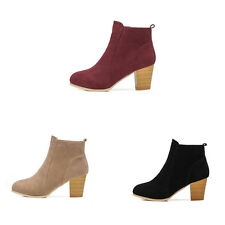 Womens Martin Boots Suede Shoes Platform Mid Calf Shoes Winter Ankle Boots