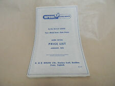Wrenn Railways price list leaflet PL/1/76 Jan 1976