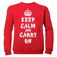 KEEP CALM AND CARRY ON GIRLS DRIPPING HALLOWEEN CHILDRENS SWEATSHIRT JUMPER