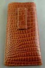 Wonderful Quality leather embossed croco pattern - Eyeglass / Glasses Case/ CLIP