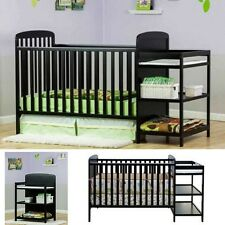 Baby Crib Changing Table Set Full Size Nursery Furniture Bassinet Bedding Combo