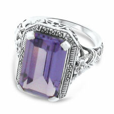 925 SOLID STERLING SILVER VINTAGE STYLE 8CT ALEXANDRITE FILIGREE RING    ,#A-001