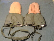 post-WWII US Army M1948 Artic Insulated Cold Weather Mittens - Small