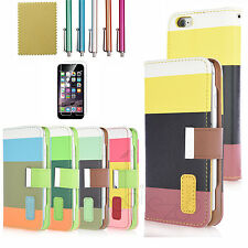 Magnetic PU Leather Wallet Credit Card Flip Cover Stand Case For iPhone 6S 6